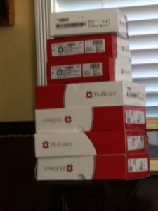 First shipment of Hollister Urostomy supplies from Edgepark. Arrived just in time!